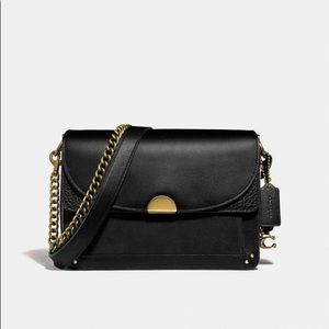 Coach Dreamer Shoulder Bag Black Leather NWT